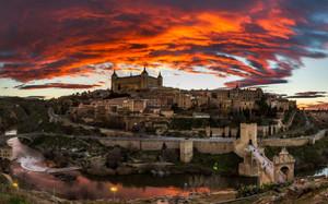 Toledo_sunset