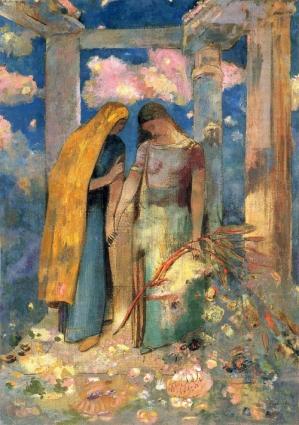 Odilon-redon-mystique-dislogue-1896